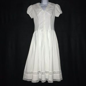 Contempo Casuals White Vintage Prairie Dress 7